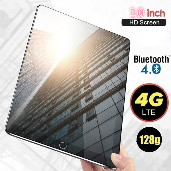 2021 6g + 128gb tablet 10 Polegada dez núcleo 4g rede wifi tablet pc android 9.0 arge 1280*800 ips tela dupla sim câmera traseira