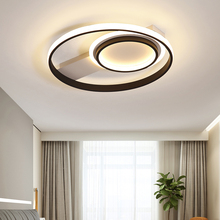 good quality clear ring led ceiling lamp crystals flush mounted living room lights lampara led techo for home fast shipping Modern LED Ceiling Lights Creative Black+white Frame ceiling lamp For Living Room Lights Bedroom ceiling light lampara techo
