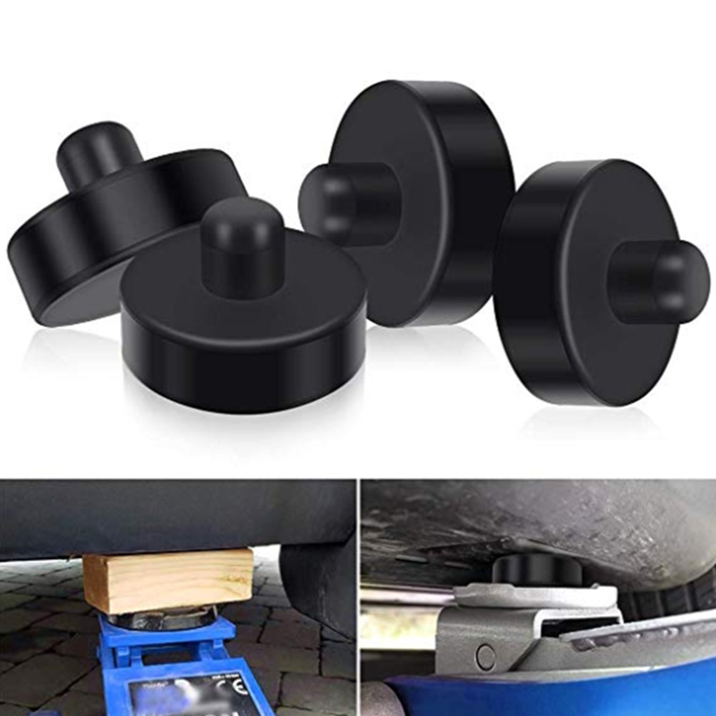 Accessory Lift Adapters Tool Parts For Tesla Model 3 Neoprene Black Anti-slip Replacement 4pcs Useful
