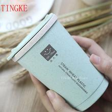 280ML Double Insulation Wheat Fiber Straw Coffee Cup Creative Personality Office Coffee Cup Outdoor Travel Cup Leakproof