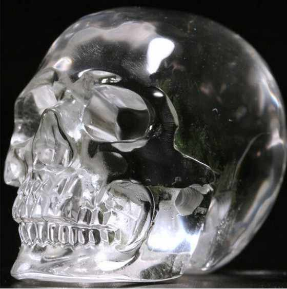 YM 309 Quartz Rock Gesneden Crystal Skull, Realistisch, Genezing