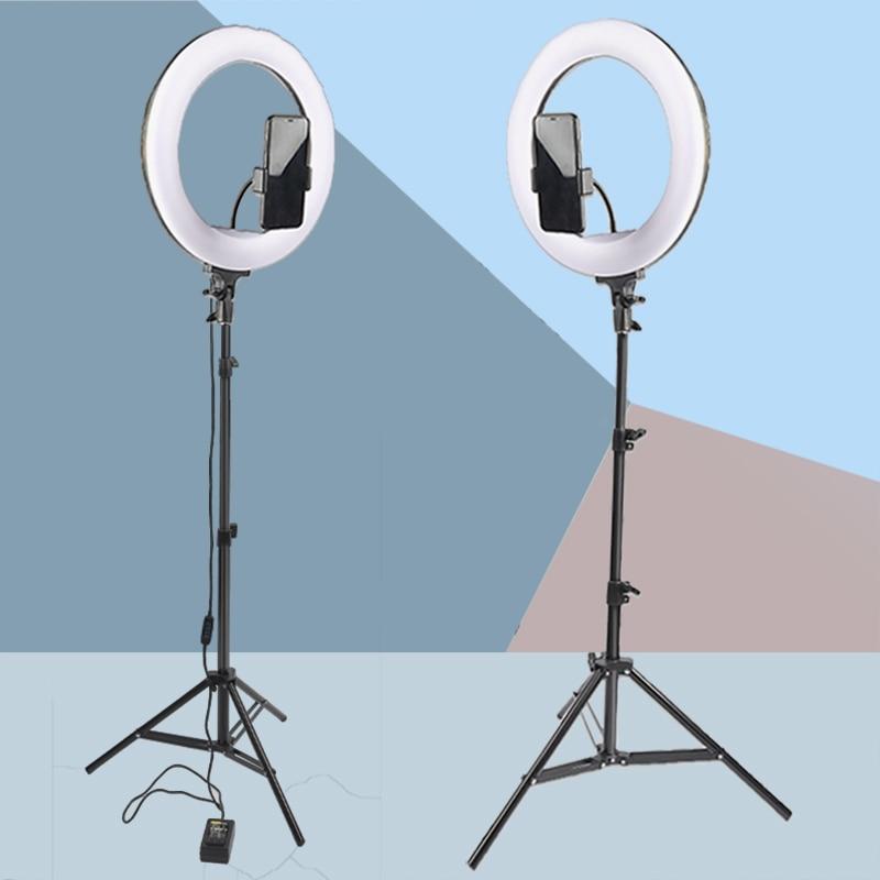 "14/"" LED Ring Light Dimmable Lighting Phone Selfie Tripod Studio Makeup Live Lamp"