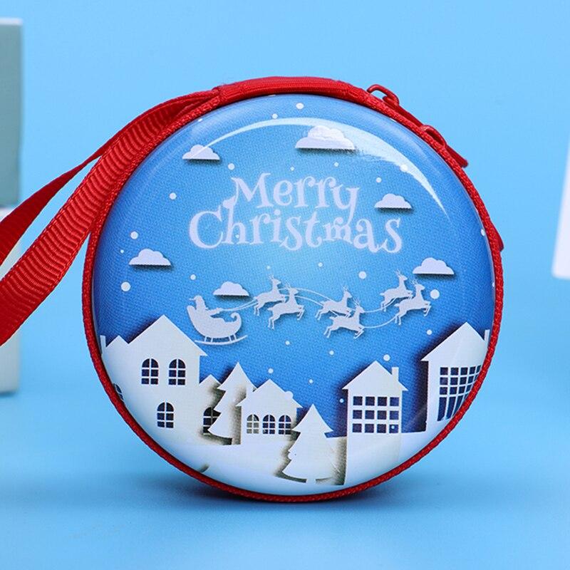 Лидер продаж, кошелек для монет с героями мультфильмов, Эльза, Анна, принцесса, чехол для ключей для девочек, кошелек, детский Снежная королева, гарнитура, сумка для монет - Цвет: Christmas8