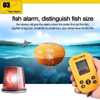 XF88 Wireless Fish Finder Freshwater Saltwater Electric Boat Fishing Wireless Depth Locator Tracker With 2.4inch TFT LCD Screen