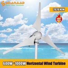 600 Вт 800 1000 3 5 6 лезвий новая энергетическая ветряная мельница