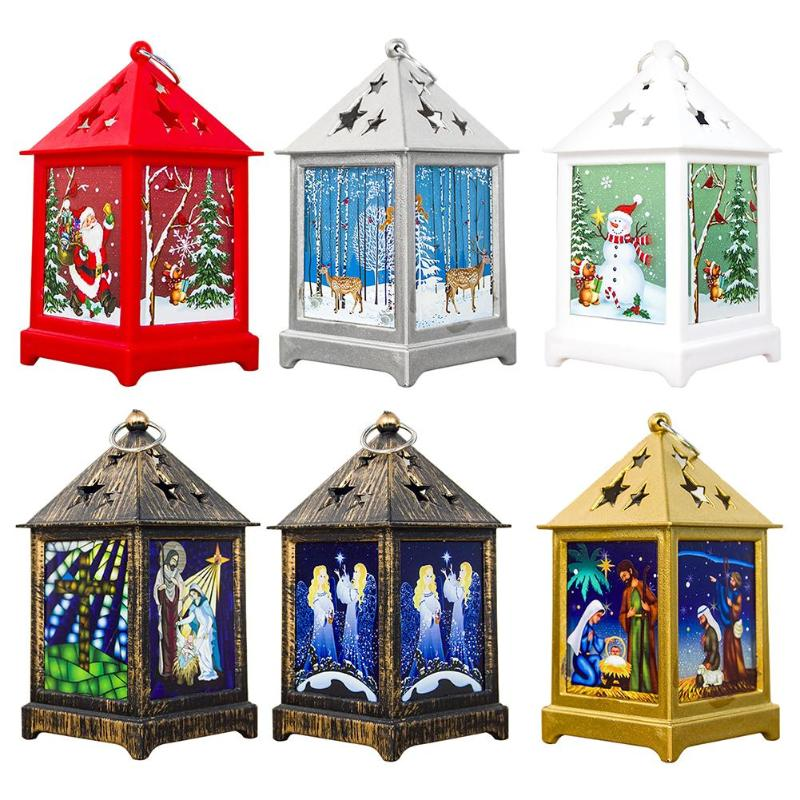 LED Tea Light Candles Cage Christmas Tree Decoration Home Hanging Ornaments
