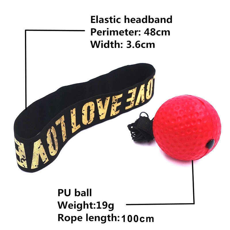 Fight Ball Boxing Punch Exercise Head Band Reflex Boxer REACT Speed Training Box