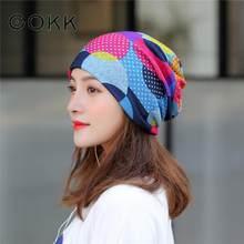 COKK turban cienka czapka nakrycia głowy wiosna czapki na jesień dla kobiet Sport Running kucyk czapka damska bawełniane czapki