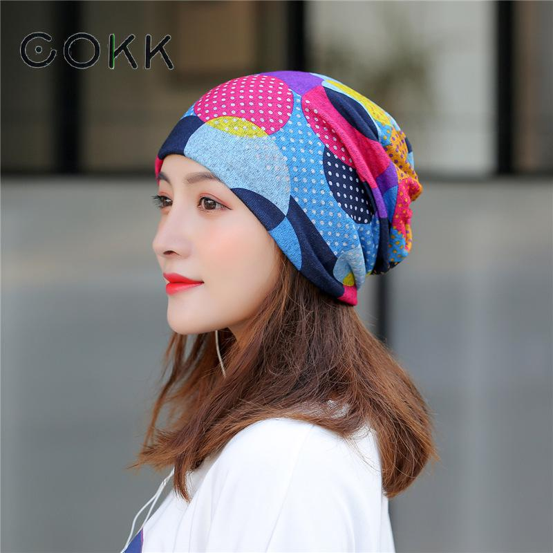 Шапка тюрбан COKK, тонкий головной убор бини шляпы весна осень для женщин, спортивная шапка конский хвост, женские хлопковые шапки|Женские Skullies и шапочки|   | АлиЭкспресс
