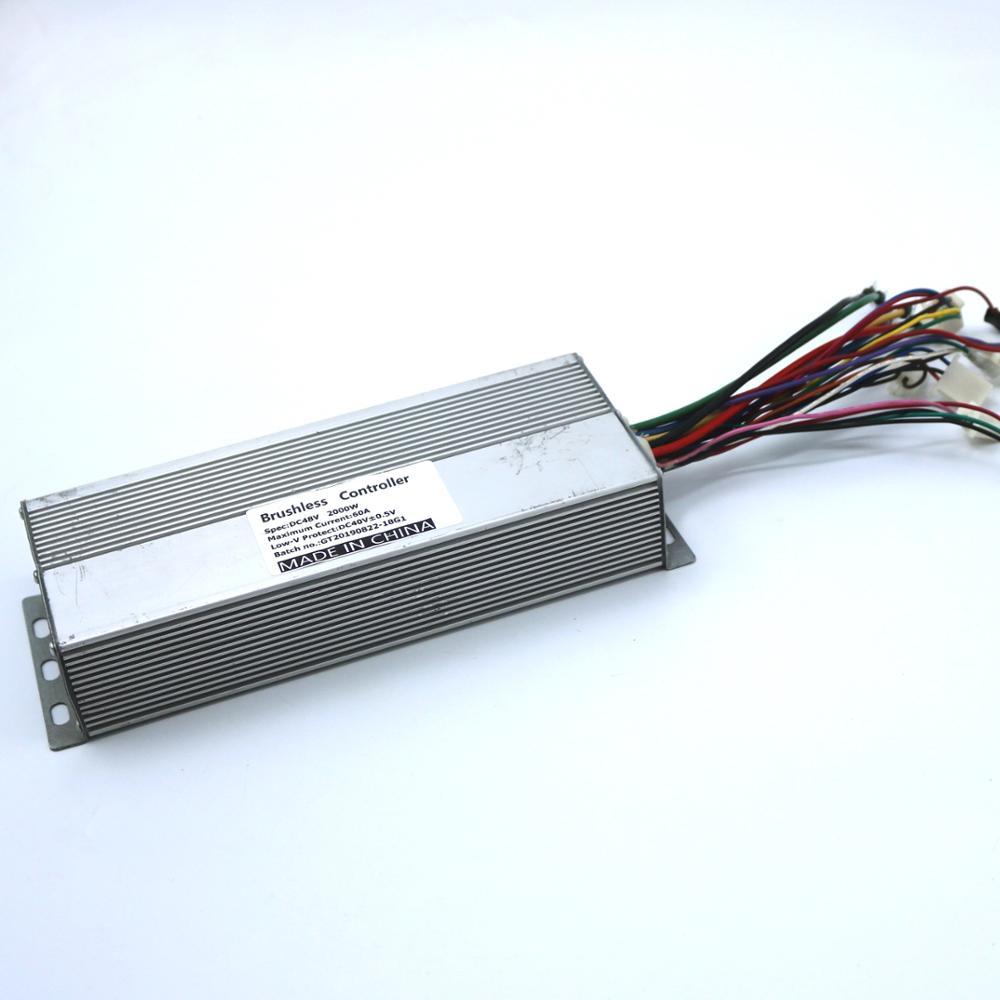 GREENTIME Sensor/Sensorless 48V 2000W 60Amax BLDC Motor Controller E-bike Brushless Speed Controller