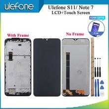 """הערה Ulefone 7 LCD תצוגת מסך מגע + מסגרת נבדק + סרט עצרת החלפה עבור Ulefone S11 טלפון 6.1 """"+ כלים + קלטת"""