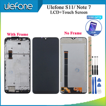 """Ulefone nota 7 display lcd e tela sensível ao toque + quadro testado + substituição de montagem de filme para ulefone s11 telefone 6.1 """"ferramentas + fita"""