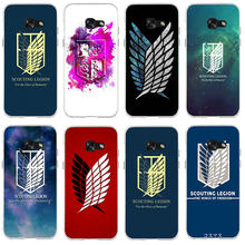 Soft Silicon Phone Case for Samsung Galaxy Core 2 A3 A5 A7 A8 A9 A9S 2016 2017 2018 Star Pro Anime Attack On Titan Survey Corps(China)
