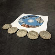 Crafty Power (DVD and Magnetic Walking Liberty Half Dollar Coins Set) Magic Tricks Close Up Illusions Prop Gimmick Across Magia