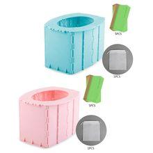 Child Kids Foldable Training Travel Toilet Portable Folding Emergency Potty Seat