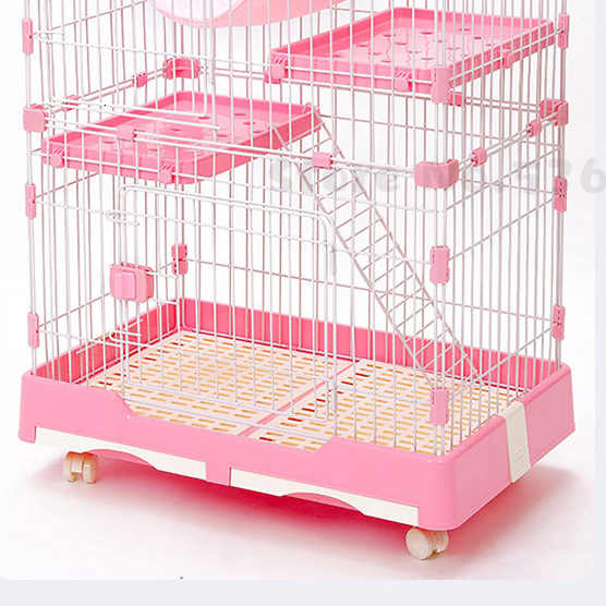 Cat Cage Extra Large Villa Indoor Household House Double Three Layer Pet Small Fence With Toilet Supplies Houses Kennels Pens Aliexpress