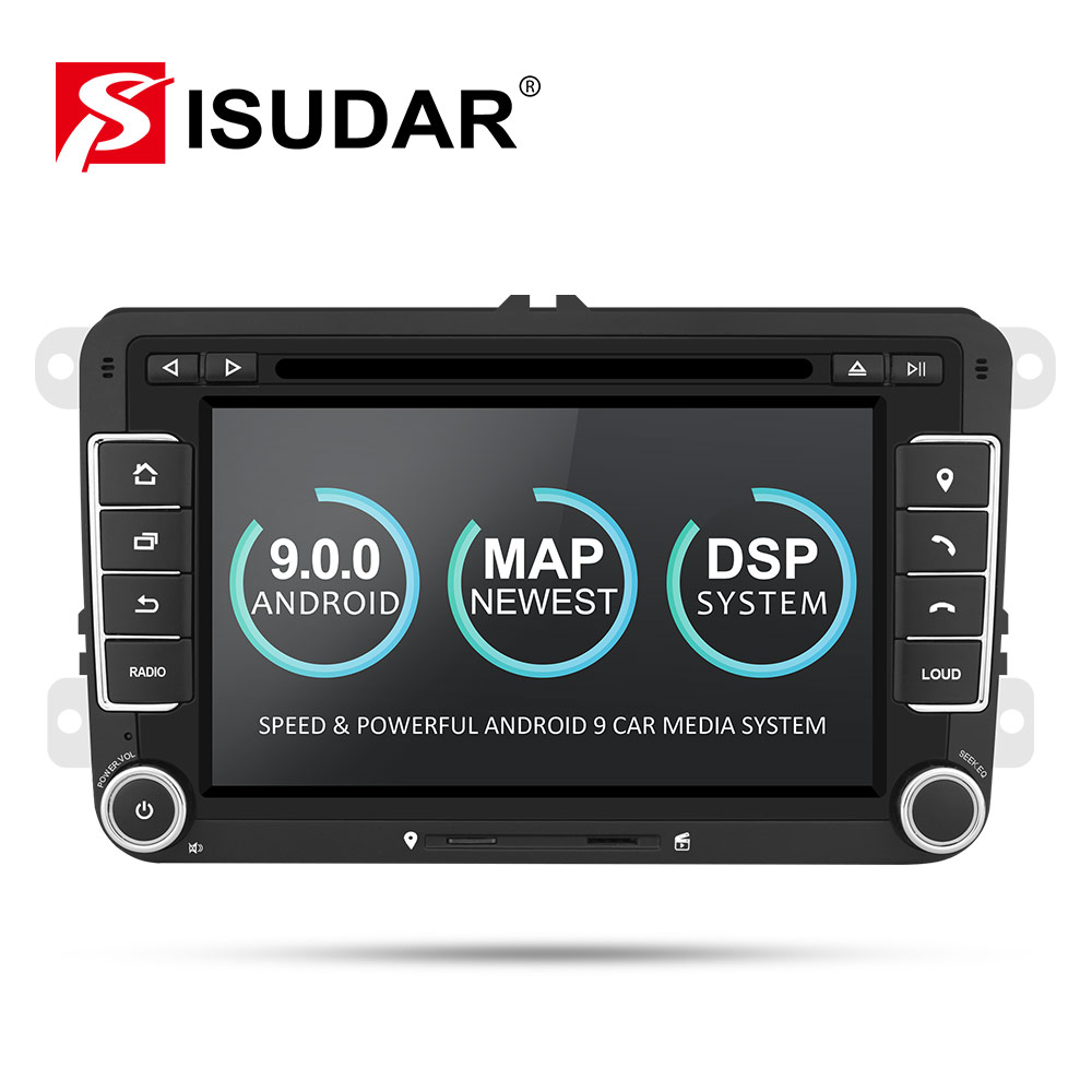 Isudar Car Multimedia Player Android 9 GPS 2 Din For VW/Golf/Tiguan/Skoda/Fabia/Rapid/Seat/Leon Canbus Automotivo DVD Radio DSP