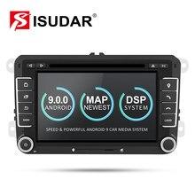 Isudar coche reproductor Multimedia Android nine GPS 2 Din para VW/Golfing/Tiguan/Skoda/Fabia/ rápido/asiento/León Canbus automotriz DVD Radio DSP
