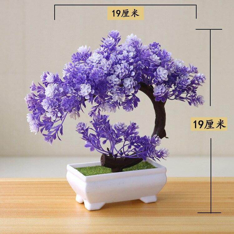 Artificial Plants Bonsai Simulation Plastic Small Tree Pot