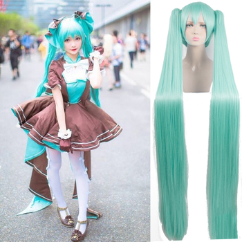 AILIADE High Quality 150cm long Aquamarine wig VOCALOID Cosplay Wig Hatsune Miku Costume Play Wigs party Anime Game Hair new 2019 vocaloid hatsune miku cosplay costume snow miku cosplay fancy dress full set carnival halloween costumes for women s xl