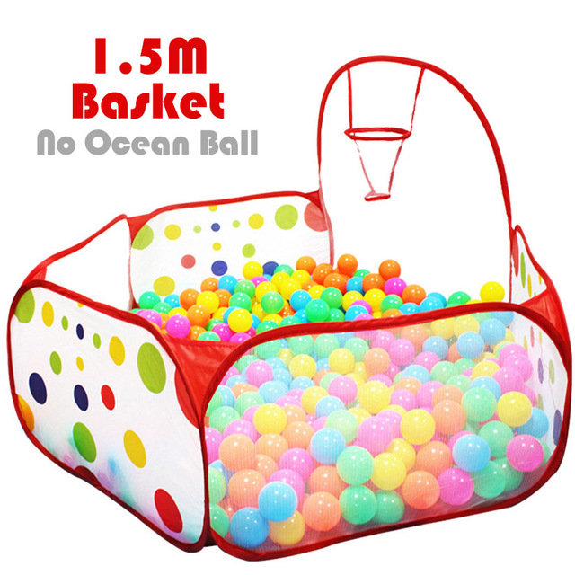 Ocean Ball Playhouse Ball Pool Pit With Basket Children Toy Baby Playpen Tent Outdoor Toys For Children Foldable Ballenbak Gifts