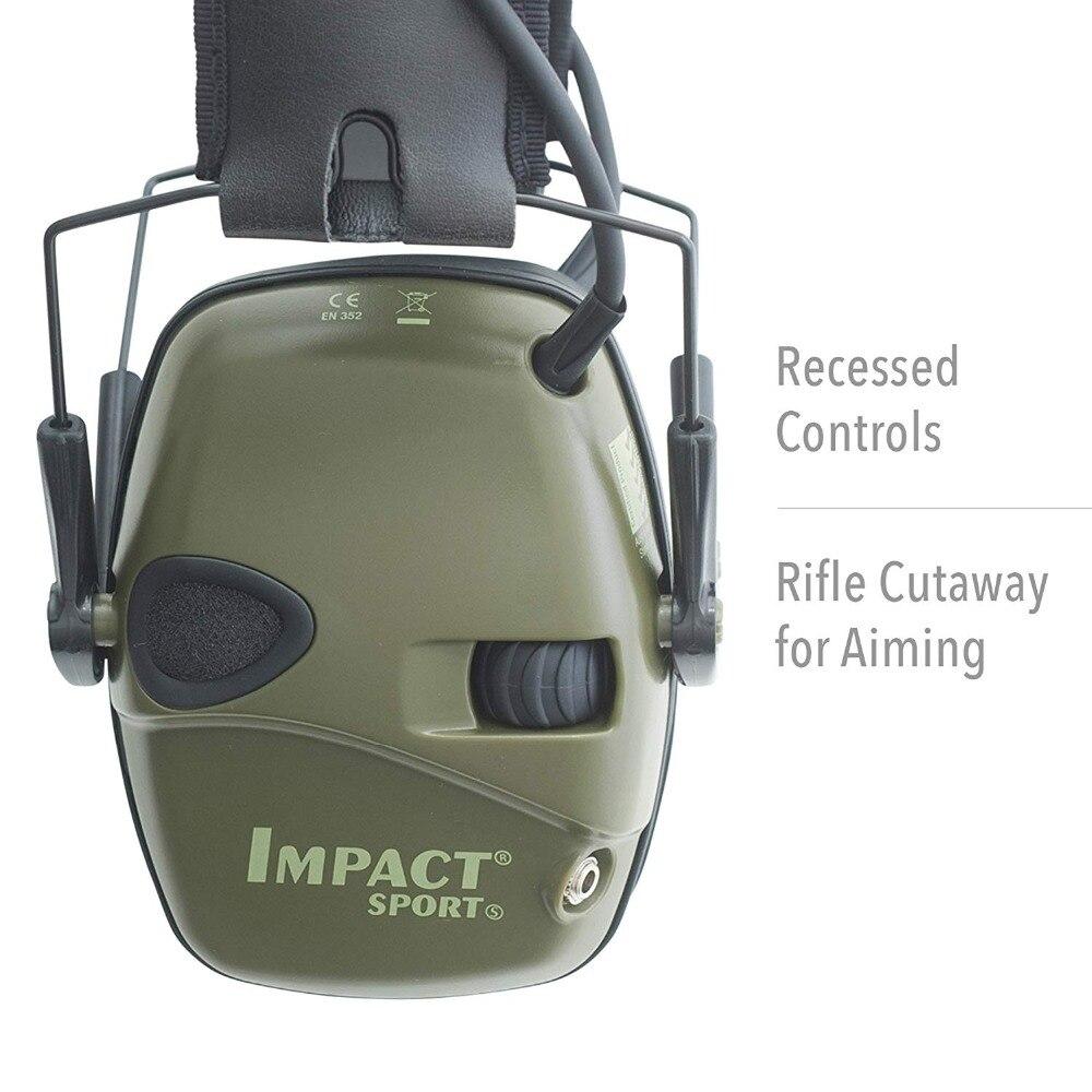 Горячая тактическая электронная съемка наушник Спорт на открытом воздухе Анти-шум гарнитура ударное Усиление звука слуха Защитная гарнитура-1