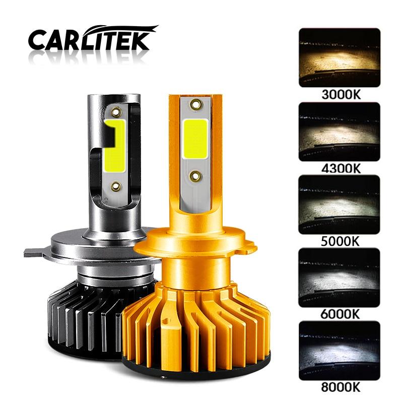 CARLitek мини H7 Led Canbus H4 турбо автомобиль лампочка для передних фар лампа H 11 Led H1 HB4 HB3 н7 H8 H3 противотуманная фара 4300 K 6000 K