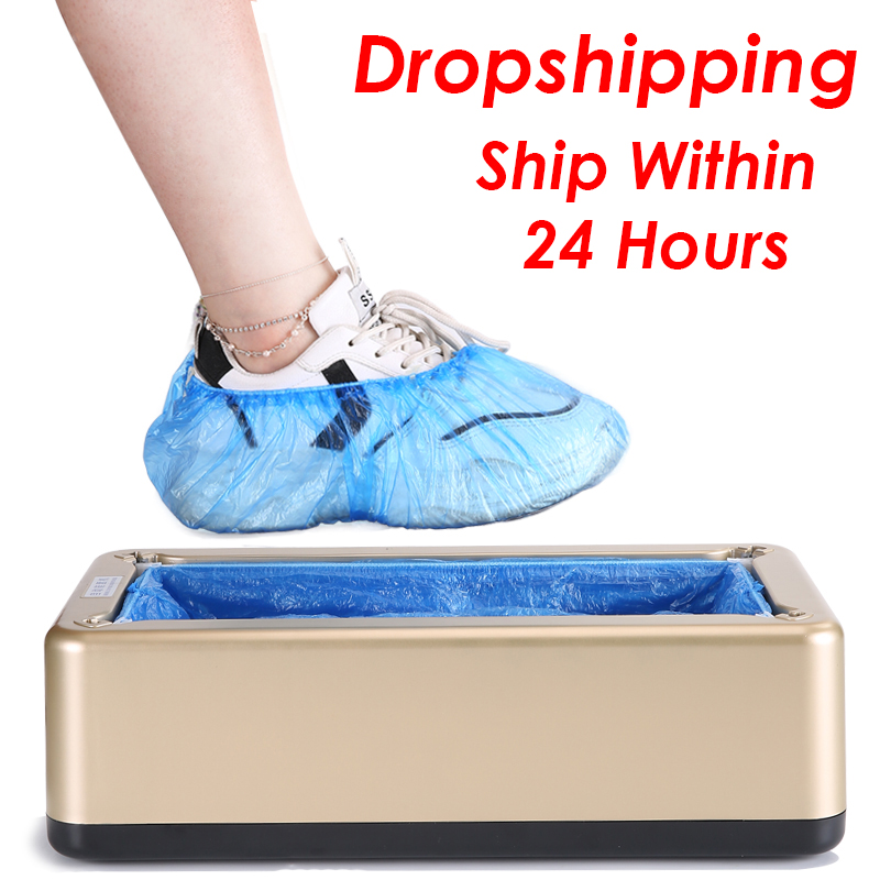 Shoe Cover Dispenser Automatic Shoes Cover Machine Household Stepping Disposable Booties Maker Shoe Film Machine Smart Hand Free