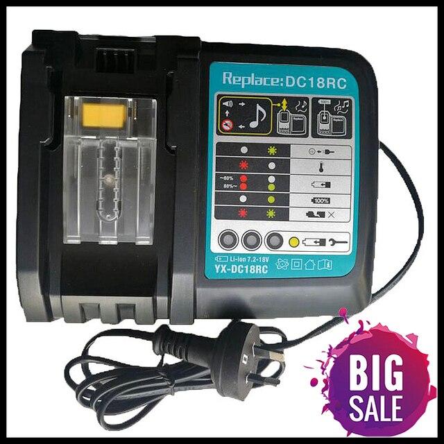 リチウムイオン電池充電器3A充電マキタ14.4v 18v Bl1830 Bl1430 Dc18Rc Dc18Ra電源ツールDc18Rct充電euプラグ