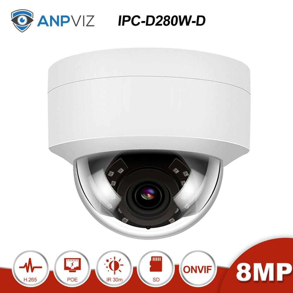 Anpviz(Hiklvision Compatible)  IPC-D280W-D  4K 8MP POE Dome IP Camera With SD Card Slot Home/Outdoor Security ONVIF IR 30m H.265