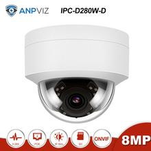 Anpviz(Hiklvision Compatible)  IPC-D280W-S 4K 8MP POE Dome IP Camera Built in Microphone Outdoor Security ONVIF IR 30m H.265 dahua 6mp stellar bullet outdoor ip camera ipc hfw4631k i6 h 265 ir 150m built in 6leds ip67 poe security cctv camera
