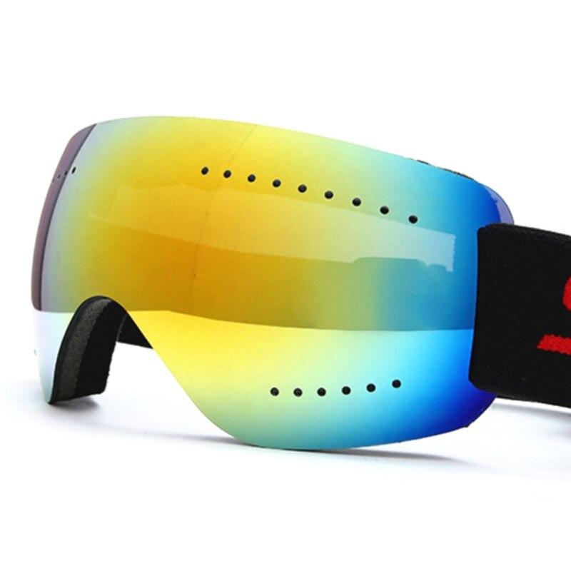 Frameless Skiing Goggles Anti Fog UV Head Band Adjustable Protection Elastic Motorcycle Glasses Road Racing Eyewear