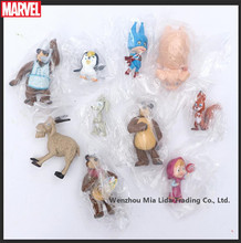 Hasbro 10pcs/set  Misha Big Brown Bear Masha Bear Martha and Bear of Russia Doll Model toys