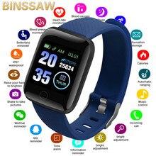 Binssee جديد الساعات الذكية الرجال مراقب معدل ضربات القلب ضغط الدم النساء جهاز تعقب للياقة البدنية Smartwatch الرياضة ساعة معصم IOS أندرويد