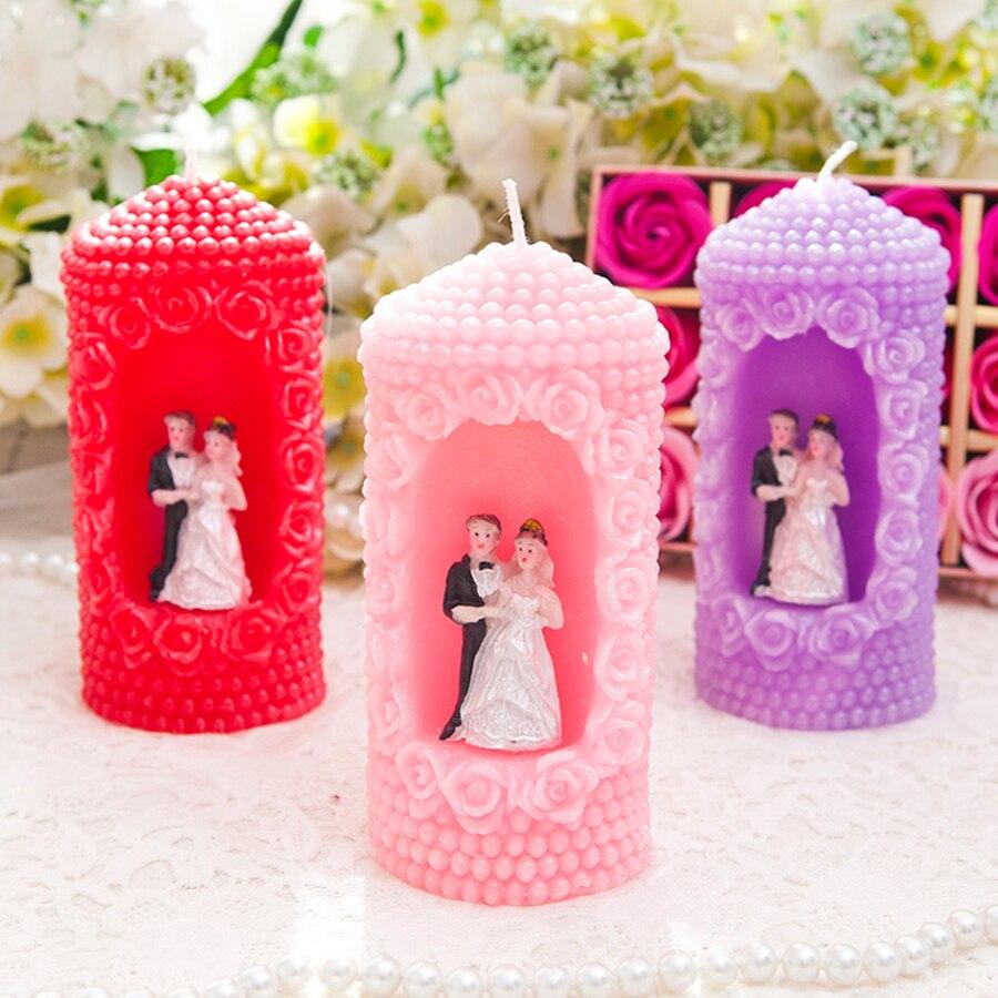 Anniversaire bougie fête cadeau bougies parfumées créatif Romance mariage décoration Velas De Cumpleanos bougie faisant des fournitures 50B27 - 2