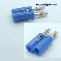 DHL/EMS 100PCS Blau 4mm Bananen stecker Binding Post für Power Verstärker Test Lautsprecher Cables A7-in Batteriezubehörteile und Ladezubehör aus Verbraucherelektronik bei