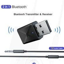 35 мм aux стерео беспроводной адаптер usb bluetooth 50 передатчик