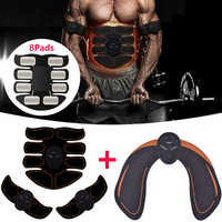 Smart Electrostimulation Muscle Stimulator EMS Abdominal Hip Trainer Buttocks Body Slimming Fitness Massager Weight Loss Fitness