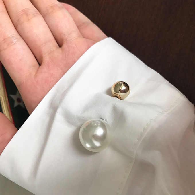 1Pcs Wanita Fashion Double Kepala Imitasi Mutiara Bros Pin Lencana Sweter Mantel Dekoratif Perhiasan Pin Bros untuk Wanita gadis