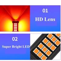 1 PC Car LED Lights Red Strobe Flash Auto Brake Light 1157 BAY15D T20 7443 LED Bulbs 1156 BA15S P21W For Brake Reverse Light 12V 3