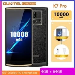 OUKITEL K7 Pro смартфон с 6-дюймовым дисплеем, восьмиядерным процессором MT6763, ОЗУ 4 Гб, ПЗУ 64 ГБ, 10000 мАч, Android 9,0, 18:9