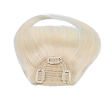 Toysww Human Hair Bangs clip in Straight Remy Natural Fringe Hair 3 clip Front Bangs 25g per pcs