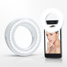 Photography Dimmable LED Selfie Light Photo Studio Lamp Ring Light Fill Light for iPhone Samsung Huawei Makeup Beauty Lighting(China)