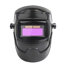 Solar Automatic Welding Helmet Welding Mask Head-Mounted Argon Arc Welding Cap Welding Protective Helmet Flat Flip Half Helical