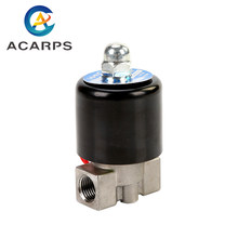 24v 110v 220v 12v 1/4 inch Solenoid Valve Stainless Steel Direct Acting Normally Closed