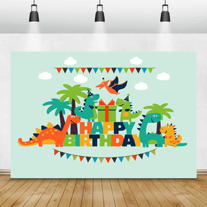 Image 1 - خلفيات تصوير Laeacco Jurassic Park Palms شجرة ديناصور بينانت خلفيات عيد ميلاد للأطفال حديثي الولادة فوتوزون ستوديو الصور