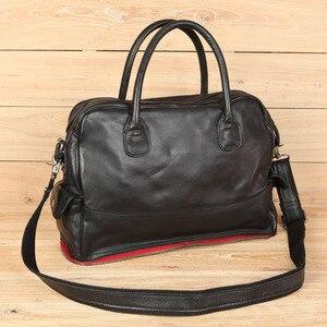 Image 4 - Leather Handbag Shoulder Messenger Bag Laptop Briefcase Leisure Travel Bag Crossbody Men Computer Bags Mens First Layer Cowhide