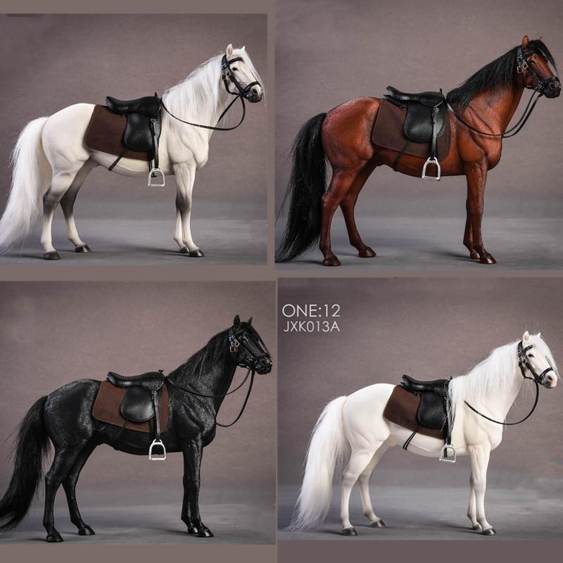 1/12 масштаб солдатская сцена немецкий Ганновер Теплокровная Лошадь модель для коллекционной фигурки