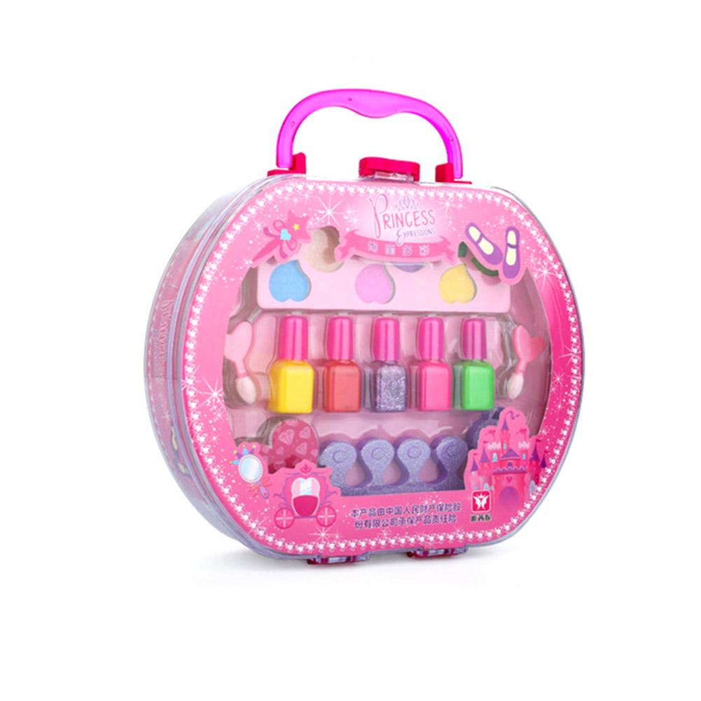 2019 New Children's Makeup Cosmetics Toy Bag Storage Princess Stage Show Little Girl Nail Polish Lipstick Cute Children Gift image