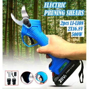Rechargeable Electric Pruning Scissors Pruning Shears Garden Pruner Secateur Branch Cutter Tool Carbon Steel Electric Scissors